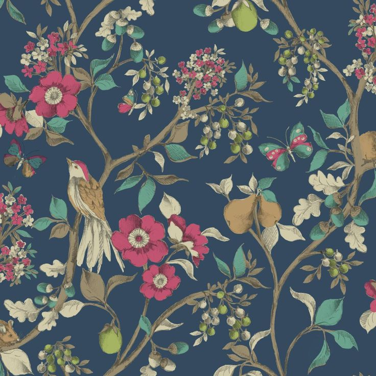 Damsen Navy wallpaper by Albany / Shared by Fabrizio Roberto UK www.fabrizioroberto.co.uk - custom-made glass mosaics and fresco wallcoverings