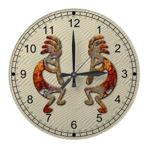 Kokopelli Southwestern Wall Clock Design.  $26.45