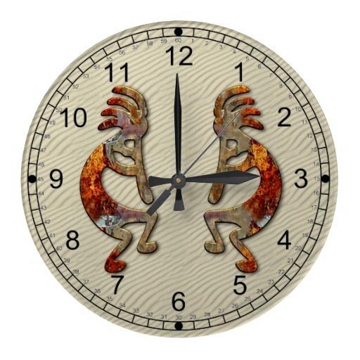 Kokopelli Southwestern Wall Clock Design.  $26.45