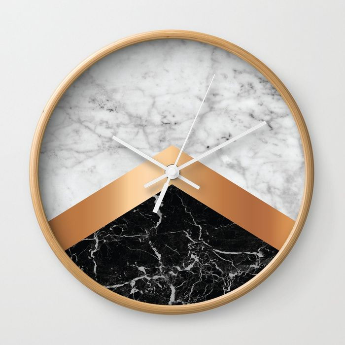 Holiday Gift Guide Trnk In 2020 Marble Clock Black Wall Clock Marble Wall