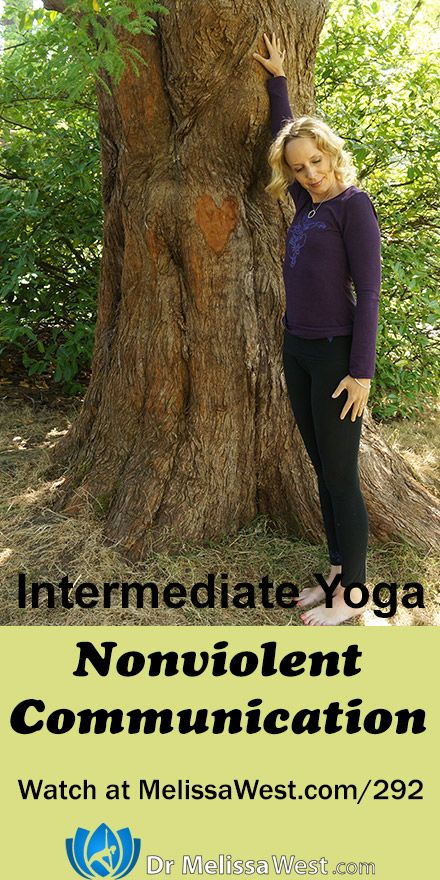 Nonviolent Communication   1 hour Hatha Yoga   Gratitude Series   Yoga with Dr. Melissa West  This one hour hatha yoga class focuses on neck pain and Marshall Rosenberg's Nonviolent Communication as part of our Gratitude Series.