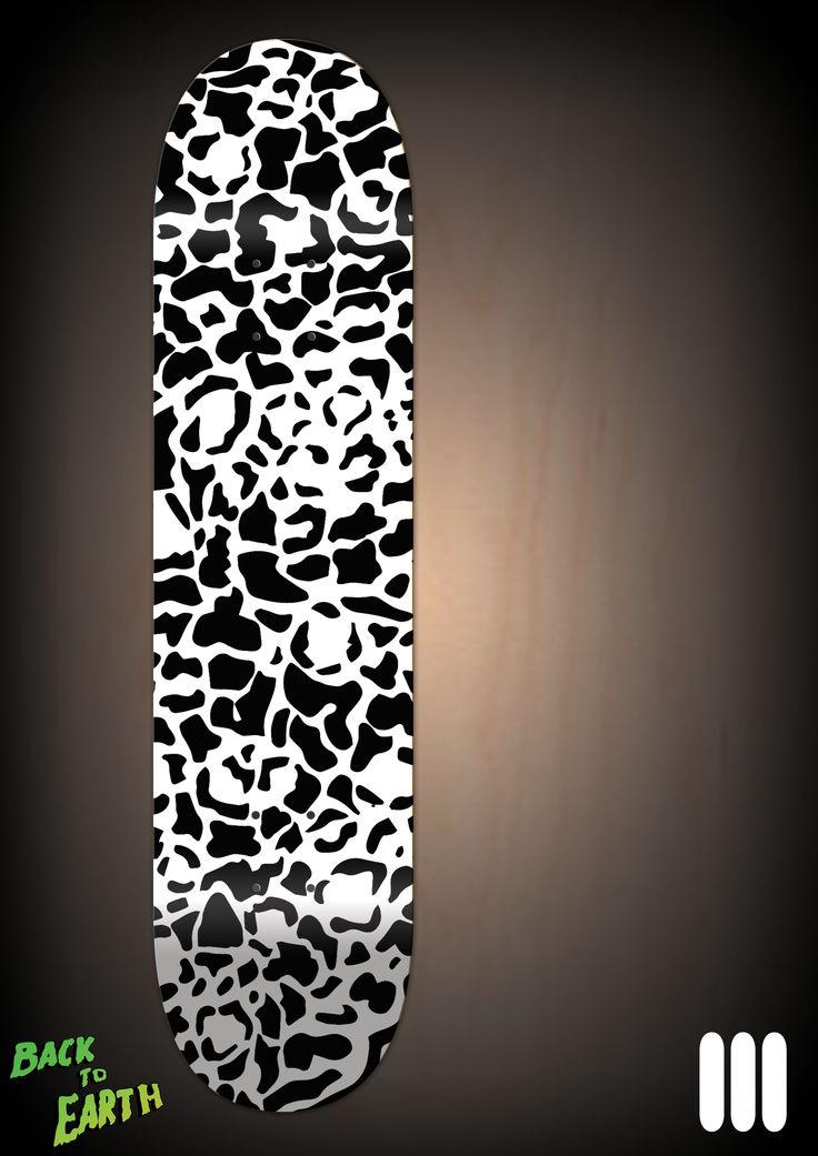White Leopard Skateboard Design