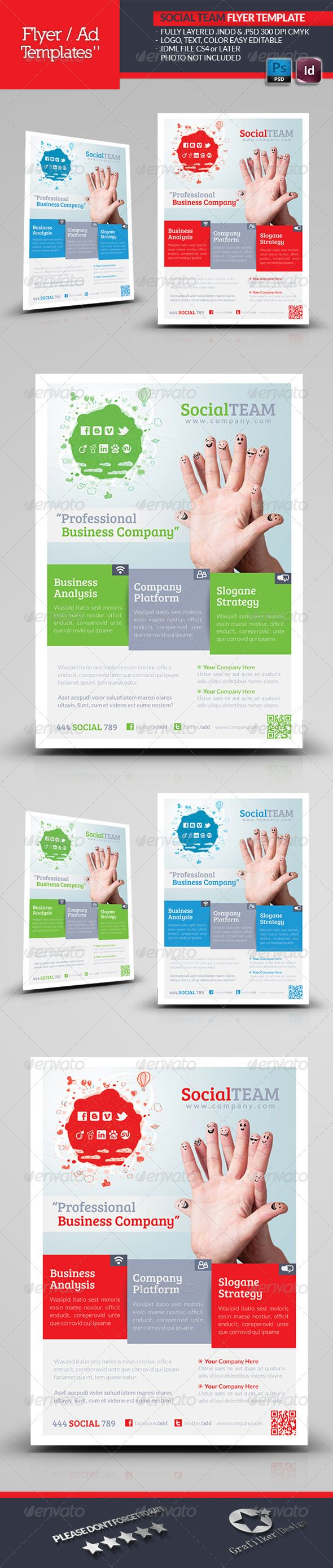 best images about print templates adobe social team flyer template