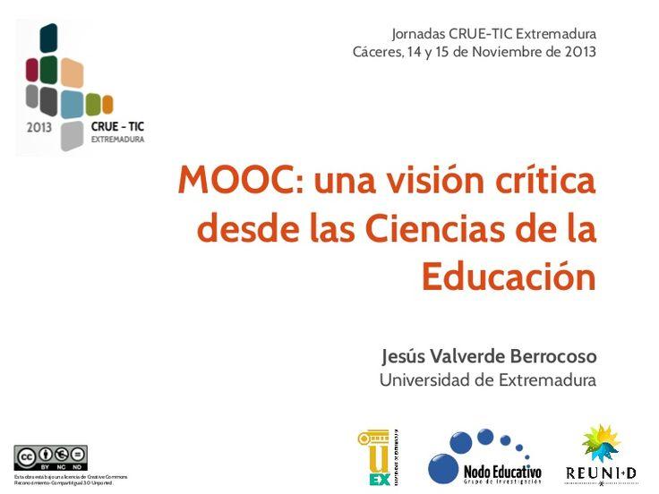 MOOC: una visión crítica dese las Ciencias de la Educación. Jesús Valverde Berracoso recoge lo que considera las 10 fortalezas y debilidades de estos cursos online masivos en la educación superior. #universidad, #debilidades, #fortalezas