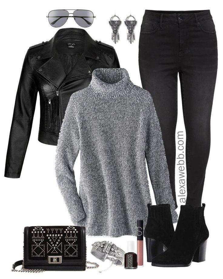 Plus Size Black Biker Jacket Outfit 5