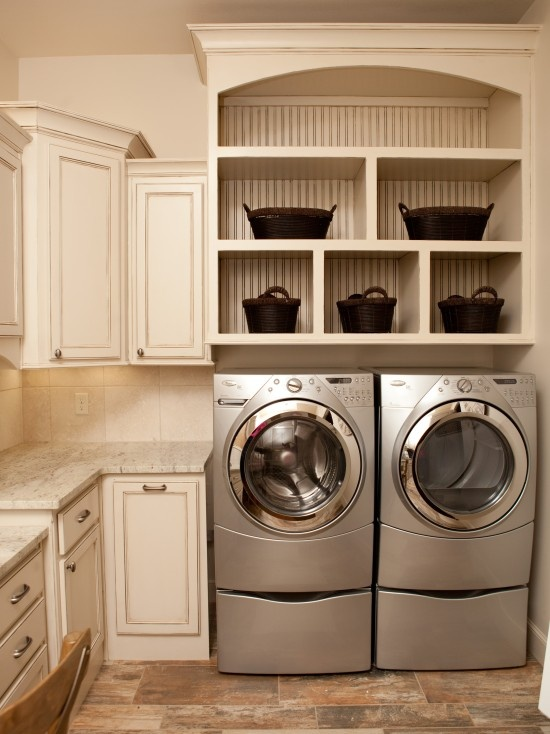 wall behind shelf  Laundry Room Design, Pictures, Remodel, Decor and Ideas - page 25