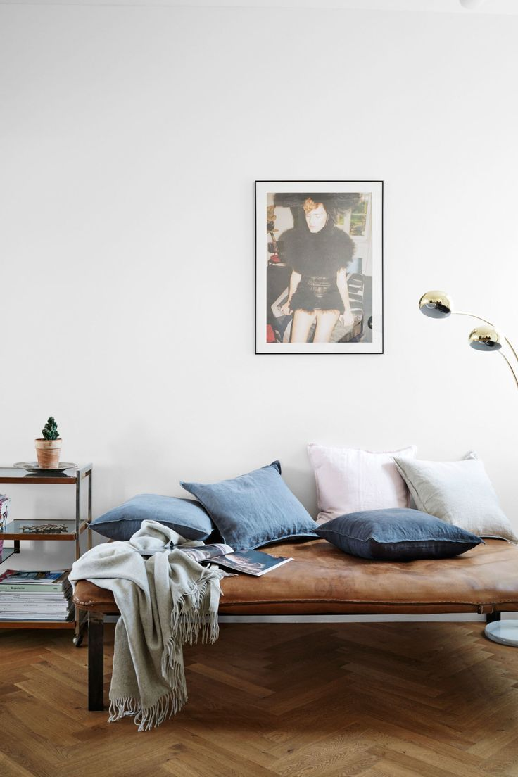 We take a tour of the chic loft where the street style star unwinds.