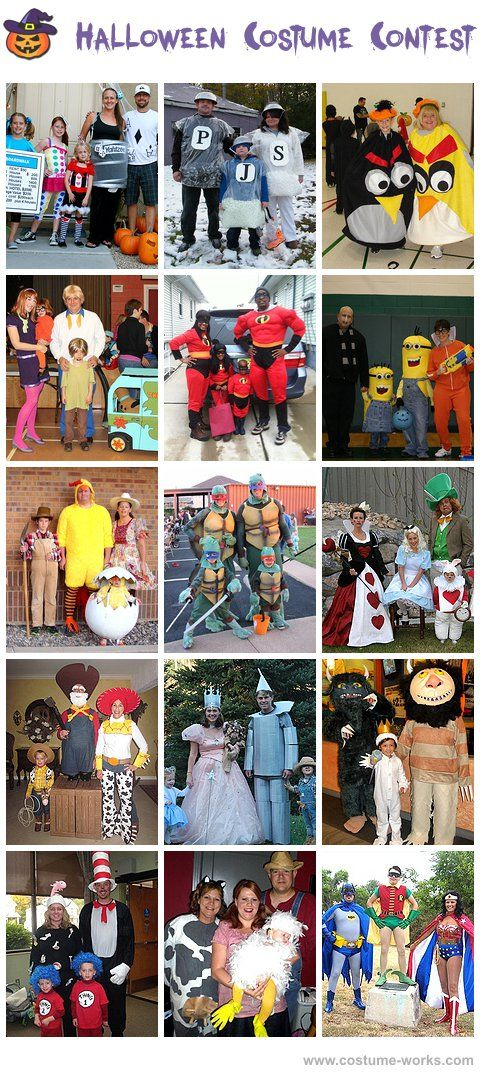 Homemade Costumes for Families - a huge gallery of DIY Halloween costumes!