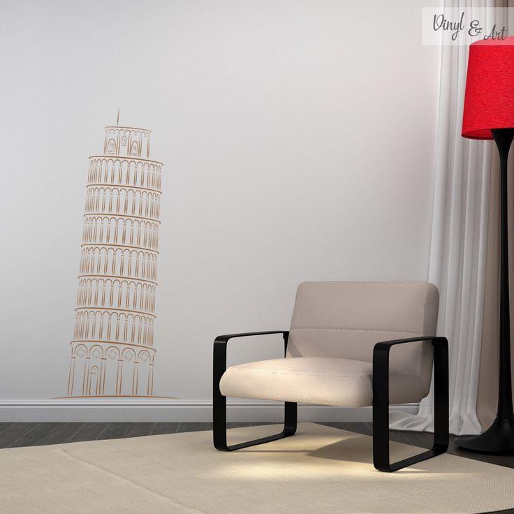 No hace falta ir a Italia para admirar la Torre de Pisa. La puedes tener en tu hogar con este vinilo adhesivo decorativo! #vinilos #adhesivos #decorativos #arte #inspiracion #diseño #decoracion #hogar #vinylandart Este y más diseños los puedes encontrar en nuestra tienda online: www.vinylandart.com