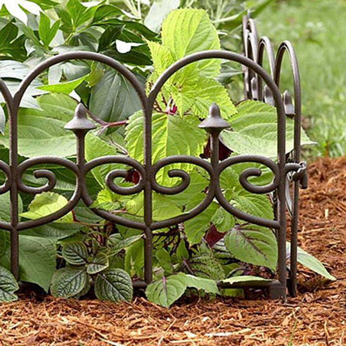 Garden Wrought Iron Split Rail Fencing Wire Fence Edging ...