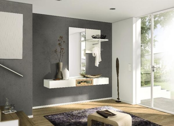 moderne flurm bel h lsta spiegel flur wei schwebend entrance pinterest. Black Bedroom Furniture Sets. Home Design Ideas