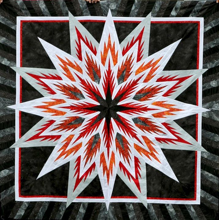 Feathered Star, Quiltworx.com, Made by Jane Reents