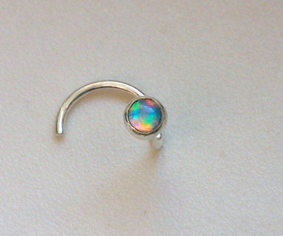 Tiny Opal Nose Stud 2mm Nose Screw SPECIAL SALE by GazitJewelry, $14.50
