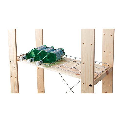 OBSERVATÖR Portabottiglie  - IKEA. Il portabottiglie è solamente la griglia ondulata in alluminio, da appoggiare su qualunque scaffale! Un'idea geniale a € 4,99!!!