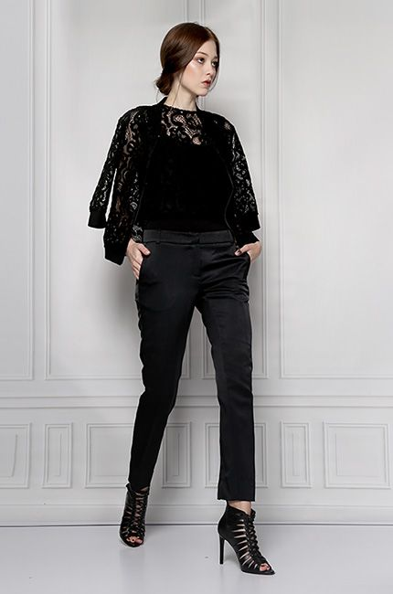 blouse lace black furelle
