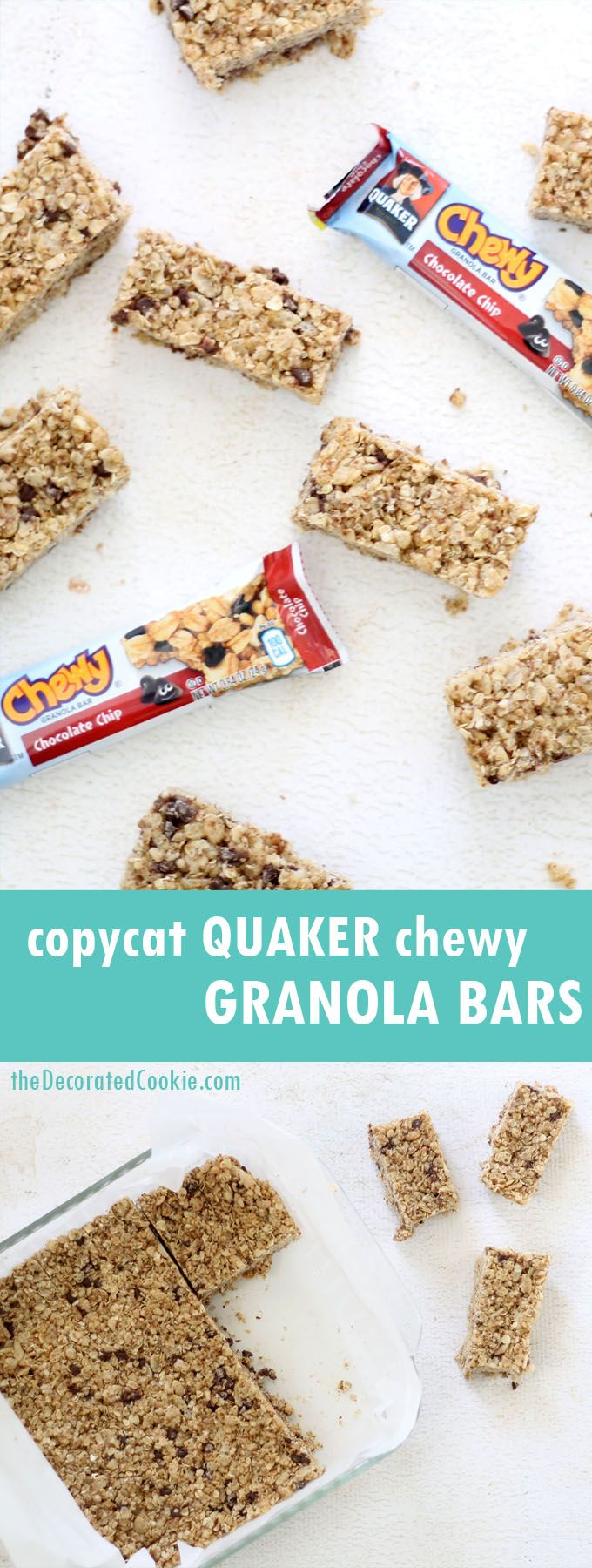 copycat Quaker chewy chocolate chip granola bars