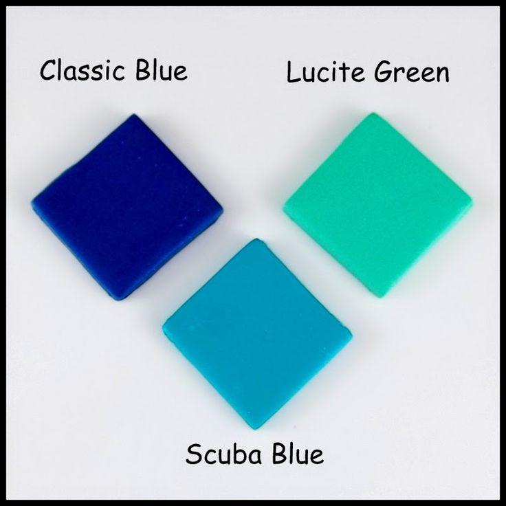 2 Good Claymates: Pantone Spring 2015 Fashion Color Scuba Blue Polymer Clay Color Recipe