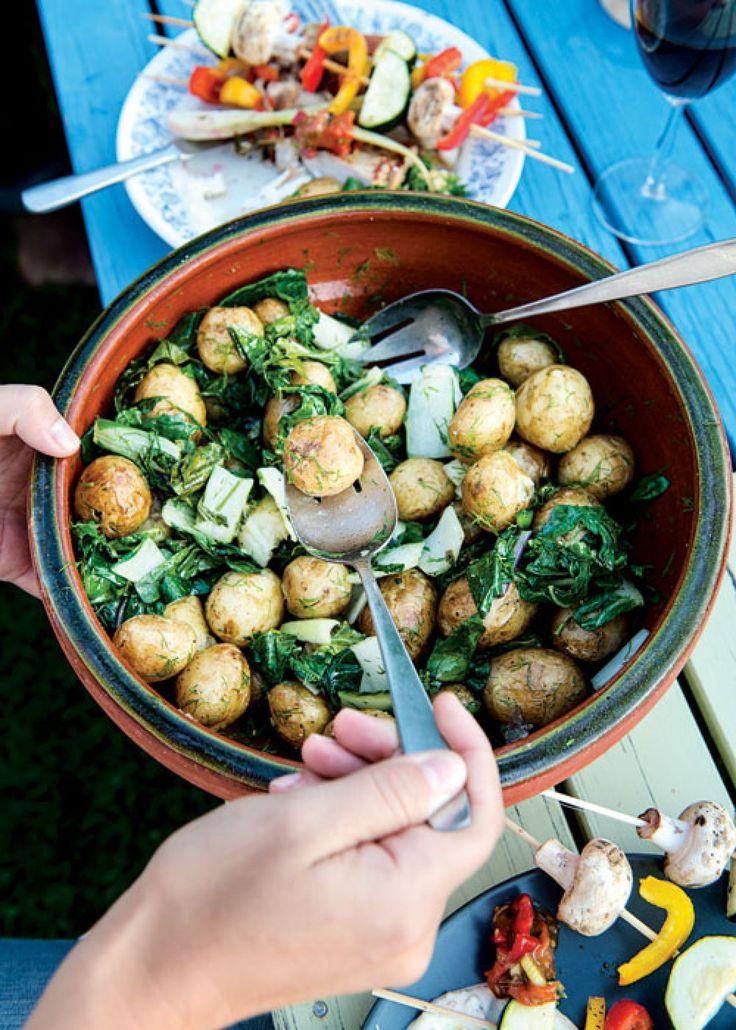 Potato and Pasta Salad Recipes. Pictured is the Kohlrabi Potato Salad.