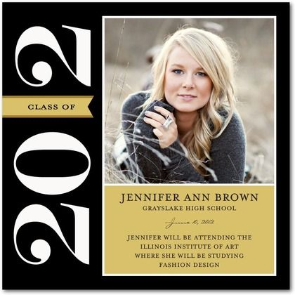 Class of 2012.  for announcements, i like the black ... not sure if i want to do color or just neutral colors :/