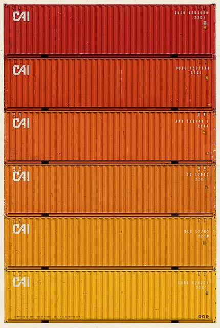 Container Color System 01.  Re-pin courtesy of Nok Acharee ( http://www.pinterest.com/nokacharee/ )