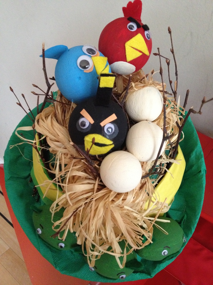 Angry Birds Easter Hat that I made for my son :)