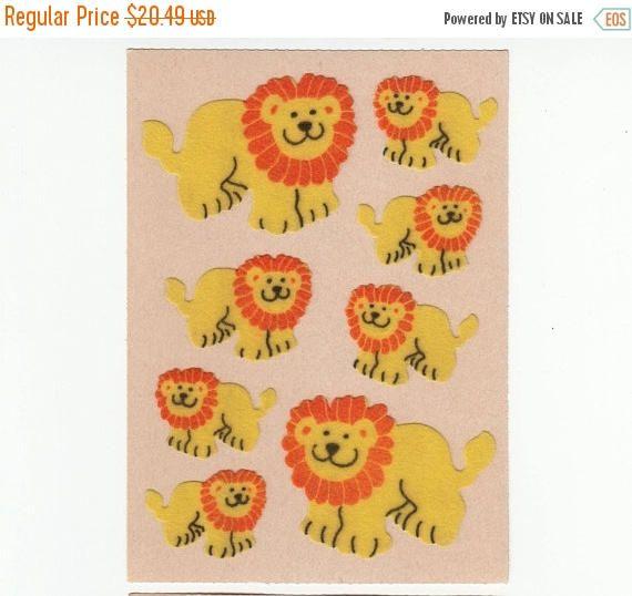 Verkauf Sandylion Fuzzy Lion Maxi Blatt Vintage Aufkleber auf Original Brown Backi …   – Meine Kindheit