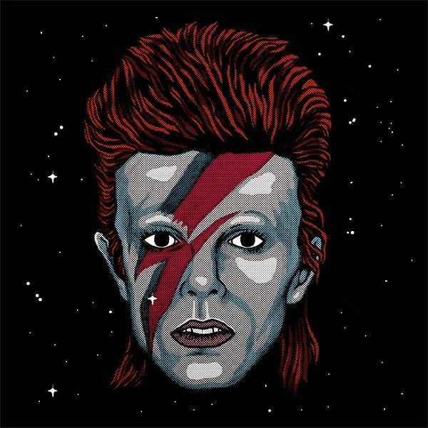 Bowie by James Wilson | on Ape on the Moon