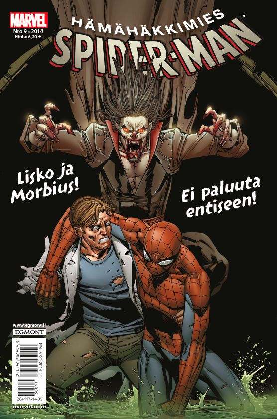 Hämähäkkimies - Spider-Man nro 9/2014. #sarjakuva #sarjakuvalehti #sarjis #egmont #marvel