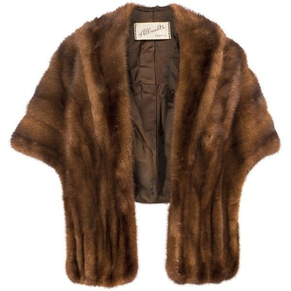 DARLING VINTAGE Vintage mink stole ($1,495) ❤ liked on Polyvore featuring outerwear, coats, jackets, fur, coats & jackets, women, shawl collar coat, vintage mink coat, brown coat and brown mink fur coat