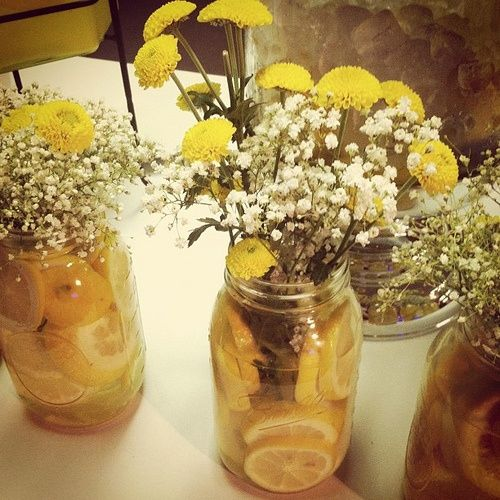 lemon centerpiece for rehearsal dinner? | A & J Future ...