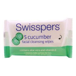Buy Swisspers Cucumber Cleansing Facial Travel Wipes 5.0 pack - Priceline Australia