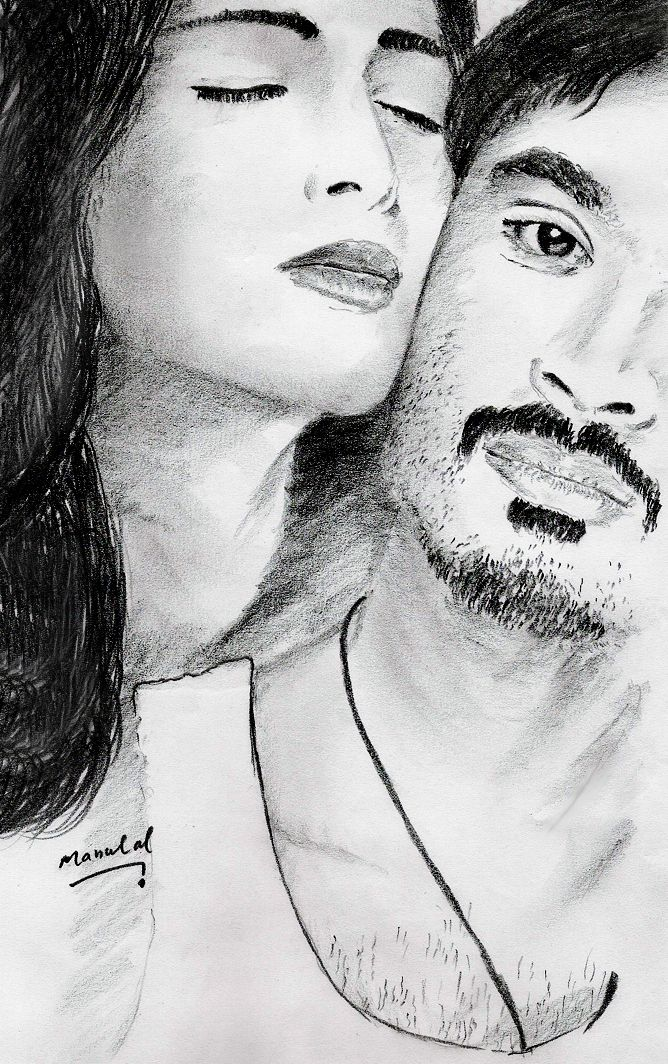 3 tamil movie poster pencil drawing