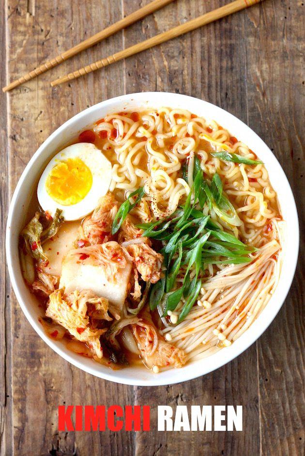 Easy Kimchi Ramen by SeasonWithSpice.com