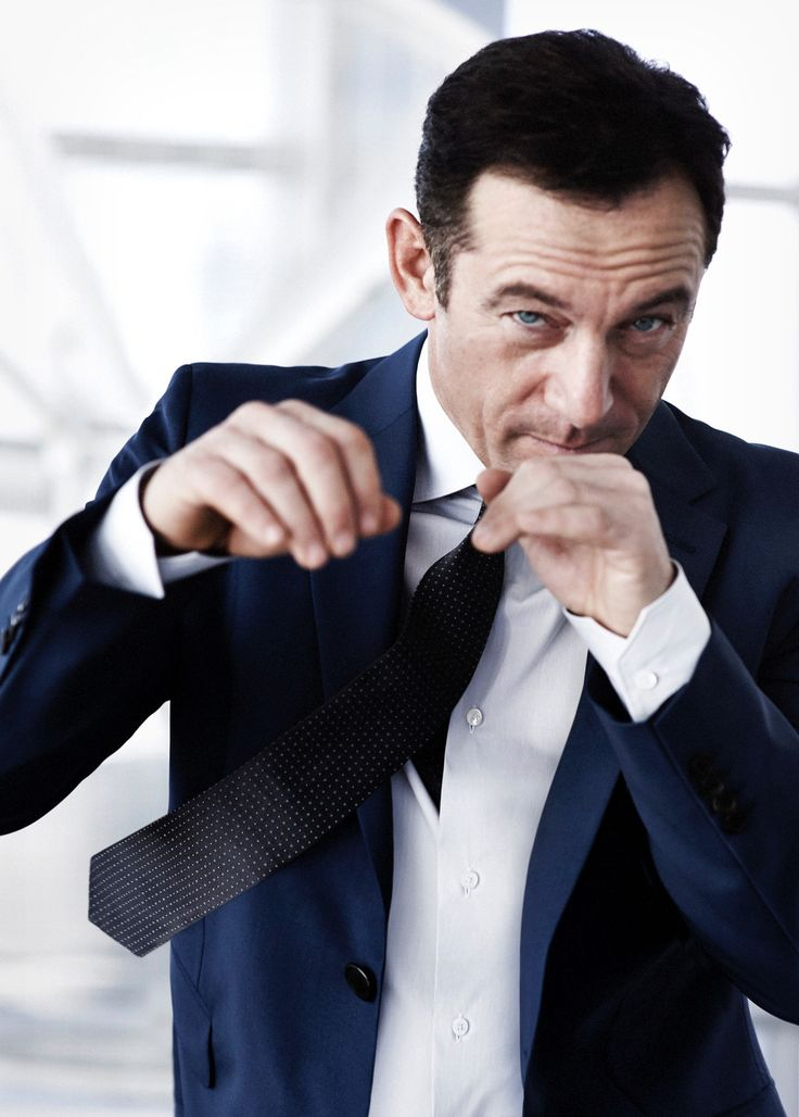 Jason Isaacs- looking like a tough guy in his latest photo shoot.