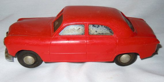 Vintage Car 1949 Ford AMT Red Wind Up Promo Model by 2ndlifeart
