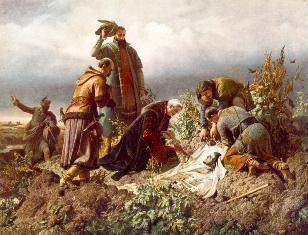 II. Lajos holttestének megtalálása - Székely Bertalan