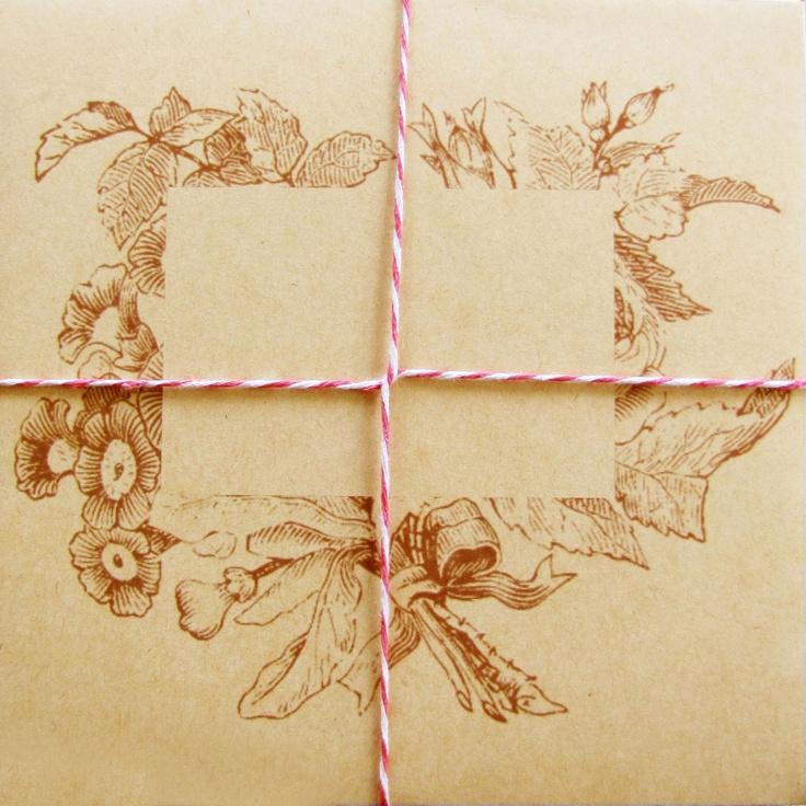 Sutherland Design's Floral Envelope with String