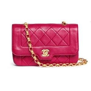 Vintage Chanel Border tab mini quilted leather flap bag .