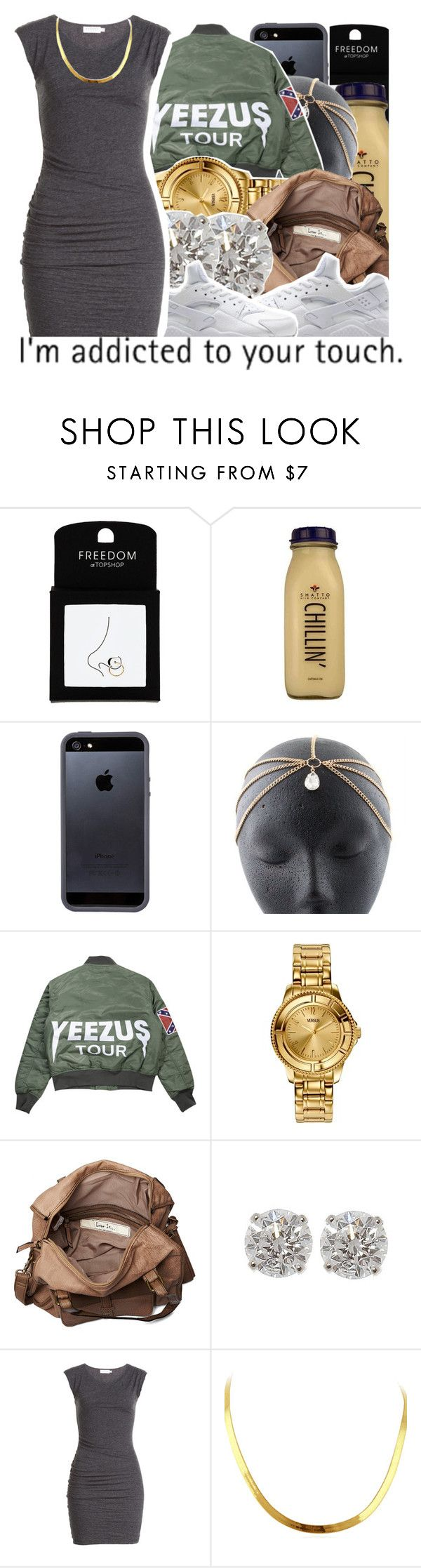 """""""Destiny🎱"""" by dopest-queens ❤ liked on Polyvore featuring Topshop, CO, Tavik Swimwear, Versus, Friis & Company, NIKE and Velvet"""