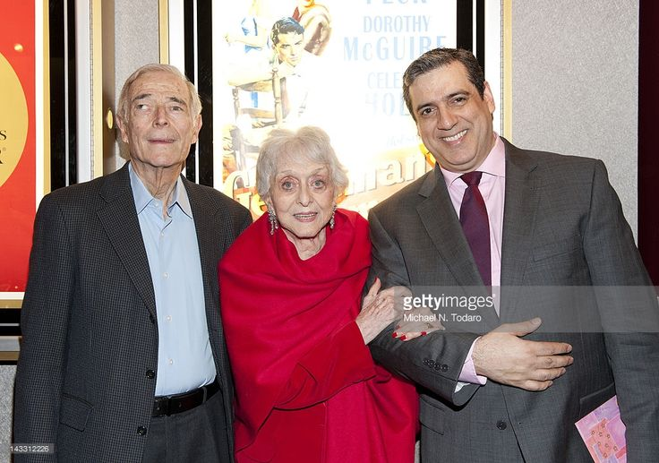 Bud Rosenthal, Celest Holm and Frank Basile attend The Academy of Motion Picture Arts And Sciences Celebrates The 65th Anniversary Of 'Gentleman's Agreement' at Lighthouse International Conference Center on April 23, 2012 in New York City.