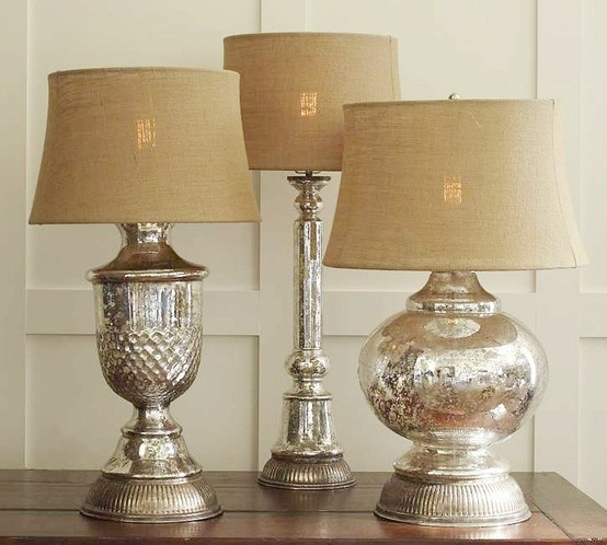 mercury glass lamps at pottery barn spray paint zebra lamp and cover. Black Bedroom Furniture Sets. Home Design Ideas