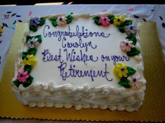 Cake Wording Retirement Wishes