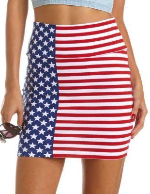 American Flag Mini Skirt