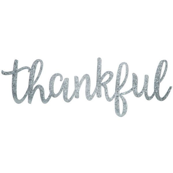 Thankful Word Galvanized Metal Wall Decor 5 99 Liked On Polyvore Featuring Home Home Decor Galvanized Metal Wall Galvanized Metal Decor Word Wall Decor