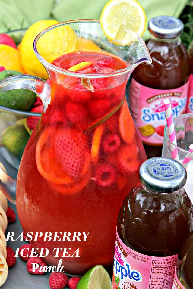how to make raspberry iced tea with syrup