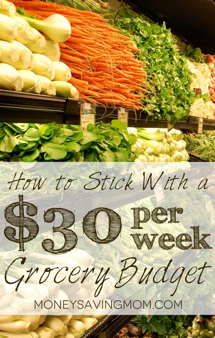 @Rachel Pemberton - this is how we will make $150 manageable :)  How to stick with a $30 per week grocery budget