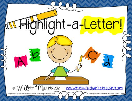 Letter recognition practice - small group, morning work, homework, etc.