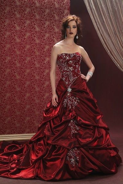 blood red wedding dresses