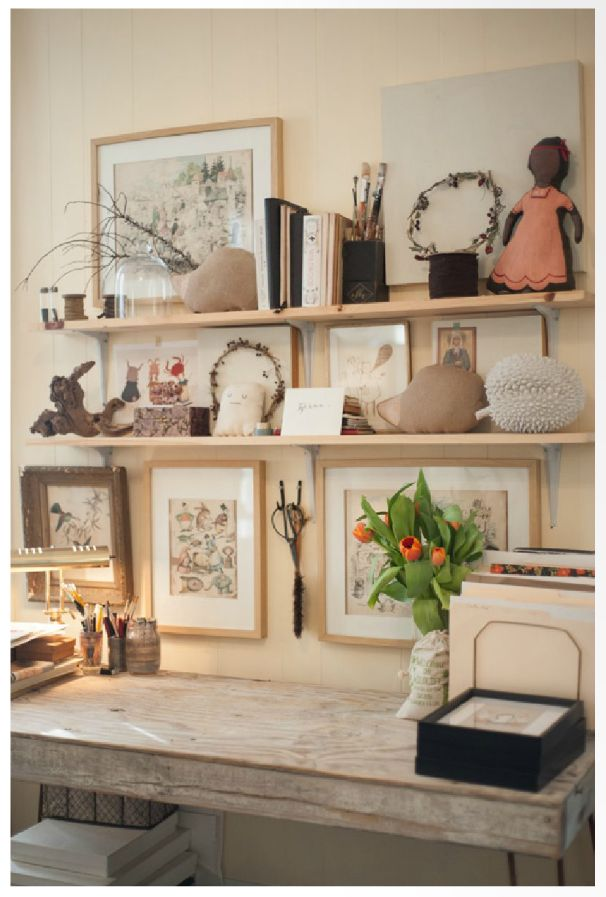 Kelsey Garrity-Riley's studio space~Photo via Paprika Southern (2014)