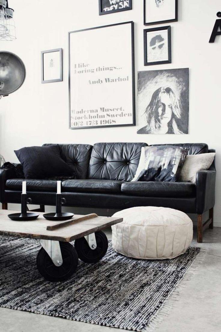 1000 idées sur le thème Canapés En Cuir Noir sur Pinterest ...